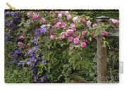 Roses On The Fence Carry-all Pouch