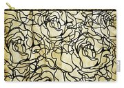 Roses Pattern Carry-all Pouch by Setsiri Silapasuwanchai