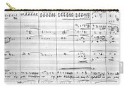 Rossini Manuscript Page Carry-all Pouch