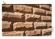 Rough Hewn Sandstone Brick Wall Of A Historic Building Carry-all Pouch