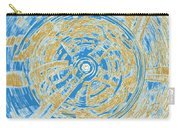 Round And Round Blue And Gold Carry-all Pouch