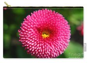 Round Pink Flower Carry-all Pouch