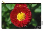 Round Red Flower Carry-all Pouch