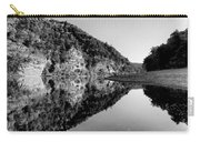 Round The Bend Buffalo River In Black And White Carry-all Pouch