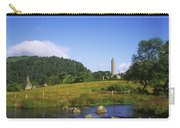 Round Tower And River In The Forest Carry-all Pouch