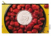 Round Tray Of Strawberries  Carry-all Pouch