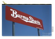 Route 66 Burma Shave Carry-all Pouch