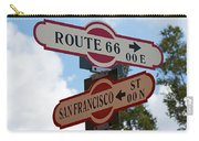 Route 66 Street Sign Carry-all Pouch