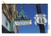 Route 66 Turquoise Tepee Carry-all Pouch