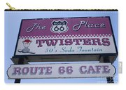 Route 66 Twisters Sign Carry-all Pouch
