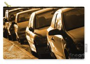 Row Of Cars Carry-all Pouch by Carlos Caetano