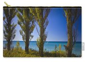 Row Of Cypress Trees At Point Betsie In Michigan No.0924 Carry-all Pouch