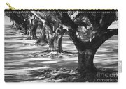 Row Of Oaks - Black And White Carry-all Pouch