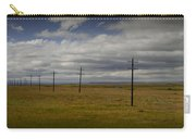 Row Of Utility Poles On The Prairie Carry-all Pouch