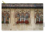 Row Of Windows In Treviso Italy Carry-all Pouch