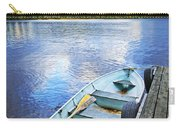Rowboat Docked On Lake Carry-all Pouch by Elena Elisseeva