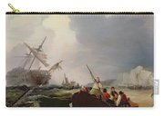 Rowing Boat Going To The Aid Of A Man-o'-war In A Storm Carry-all Pouch