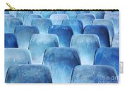 Rows Of Blue Chairs Carry-all Pouch by Carlos Caetano