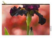 Royal Purple Tall Bearded Iris With Peachy Azalea Background Carry-all Pouch