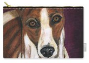 Royalty - Greyhound Painting Carry-all Pouch by Michelle Wrighton
