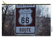 Rt 66 Il Turn Out Signage Carry-all Pouch