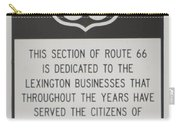 Rt 66 Lexington County Signage Carry-all Pouch
