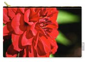 Ruby Red Dahlia Carry-all Pouch