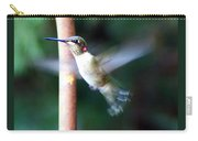 Ruby Throated Hummer In Flight Carry-all Pouch