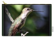 Ruby-throated Hummingbird - Just Beautiful Carry-all Pouch
