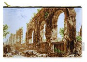 Ruins Of Roman Aqueduct, 18th Century Carry-all Pouch