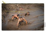 Runners Navigate An Obstacle Course Carry-all Pouch