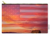 Rural Patriotic Little House On The Prairie Carry-all Pouch by James BO  Insogna