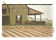 Rustic Barn And Field Rows Carry-all Pouch