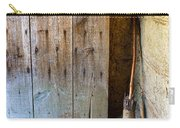 Rustic Door And Broom Carry-all Pouch