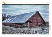 Rustic Red Winter Barn Carry-all Pouch