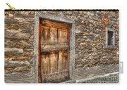 Rustic Stone House With Old Carry-all Pouch