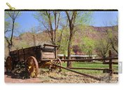 Rustic Wagon At Historic Lonely Dell Ranch - Arizona Carry-all Pouch by Gary Whitton