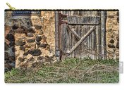Rustic Wooden Door In Stone Barn Carry-all Pouch