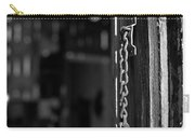 Rusty Lock - Black And White Carry-all Pouch