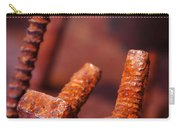 Rusty Screws Carry-all Pouch by Carlos Caetano