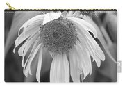 Sad Sunflower Black And White Carry-all Pouch