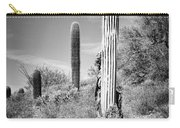 Saguaro Skeleton Bw Carry-all Pouch
