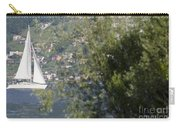 Sailing Boat And Trees Carry-all Pouch