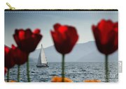 Sailing Boat And Tulip Carry-all Pouch
