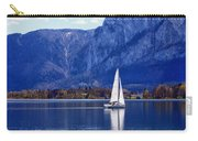 Sailing On Mondsee Lake Carry-all Pouch by Lauri Novak