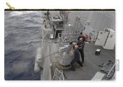 Sailors Fire A Mark 38 Machine Gun Carry-all Pouch
