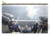 Sailors Perform A 21-gun Salute Aboard Carry-all Pouch by Stocktrek Images