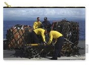 Sailors Prepare Pallets Of Cargo Aboard Carry-all Pouch