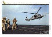Sailors Prepare To Board An Mh-60s Sea Carry-all Pouch