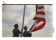 Sailors Raise The American Flag Aboard Carry-all Pouch